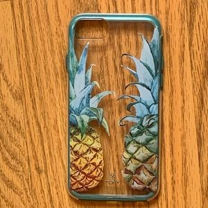 Turquoise Pineapple iPhone 7 Case